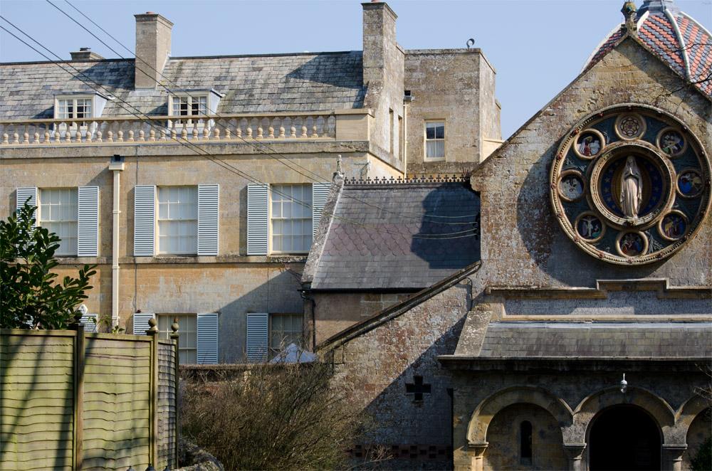Church Window Shutters Detail Manor House Chideock