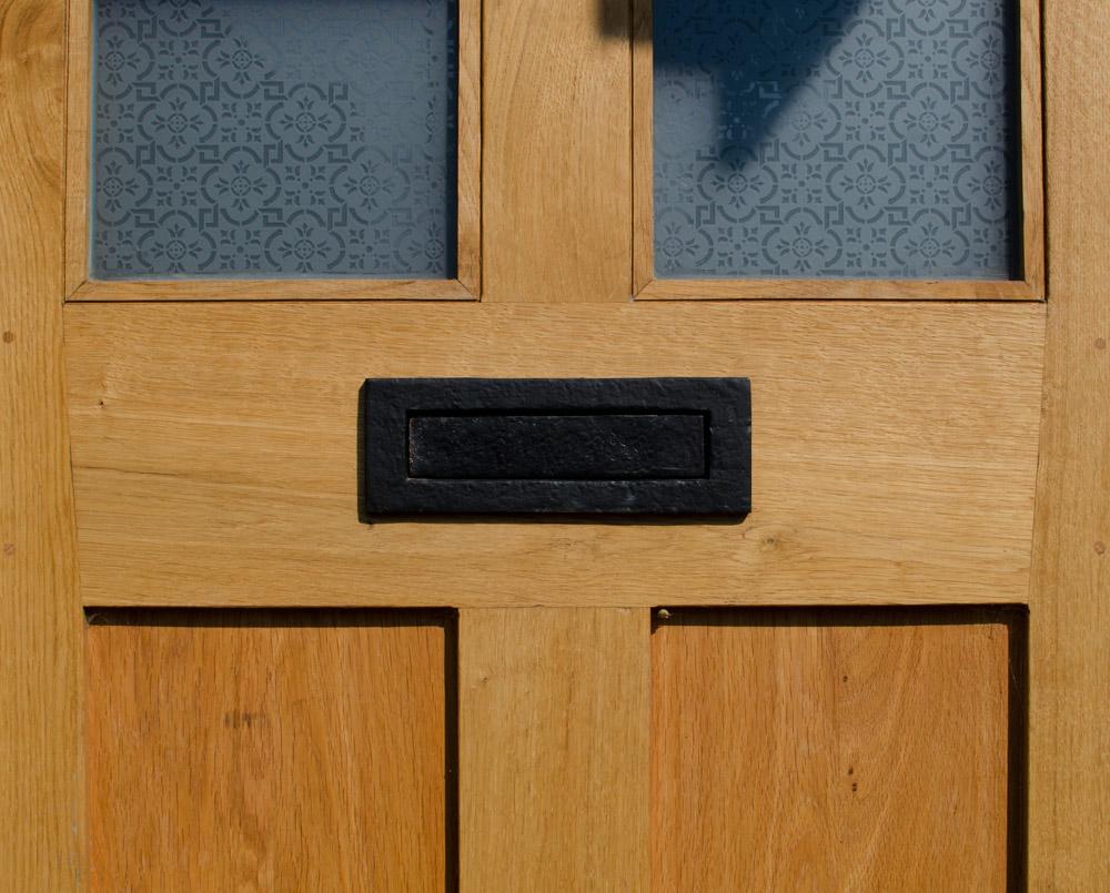 Letterbox Detail Nr Bridport Oak Broadoak Joinery