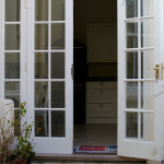 Seaton Beer French Doors Open Broadoak Joinery
