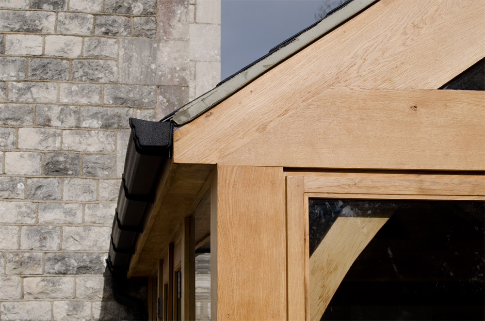 Weymouth Exterior Corner Detail-Conservatory Broadoak Joinery