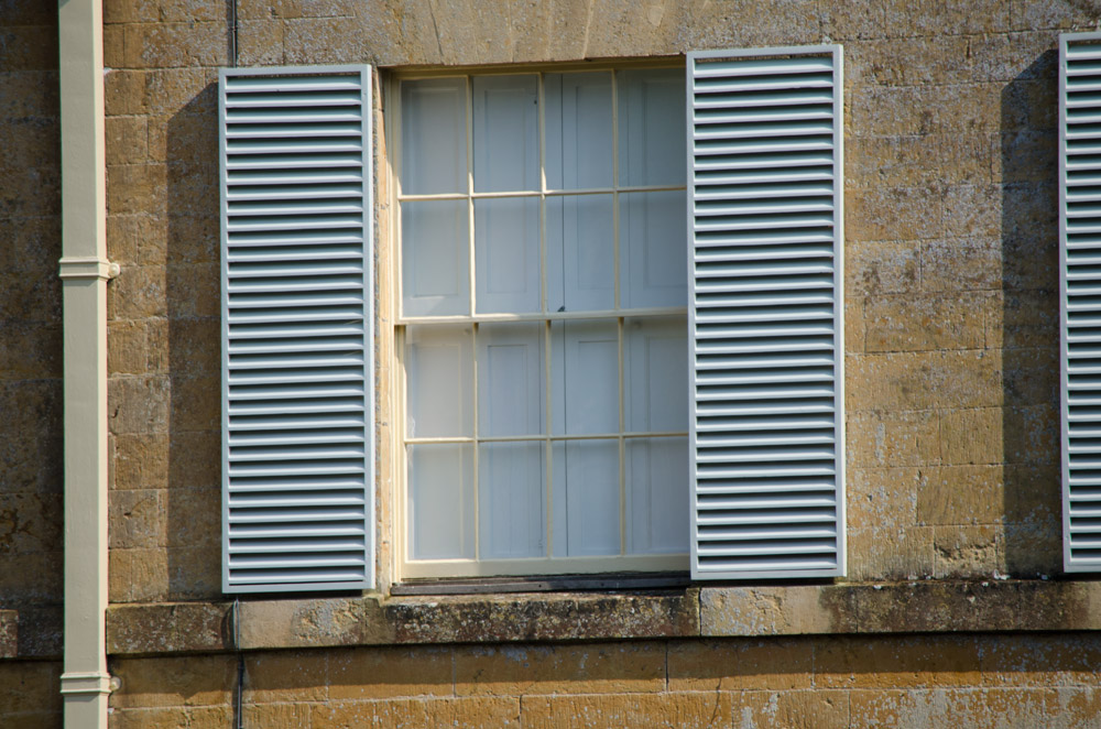 Wide Window Shutters Manor House Chideock