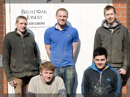 Sean Dixon, Darren White and the team at Broadoak Joinery Bridport
